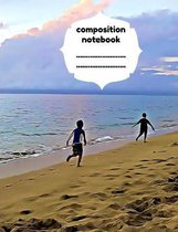 Boek cover Composition Notebook: Wide Ruled. 80 pages. van Word On Paper Notebooks