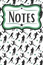 Soccer Player Field Notebook: Portable Soccer Notebook for Soccer Players and Soccer Coaches