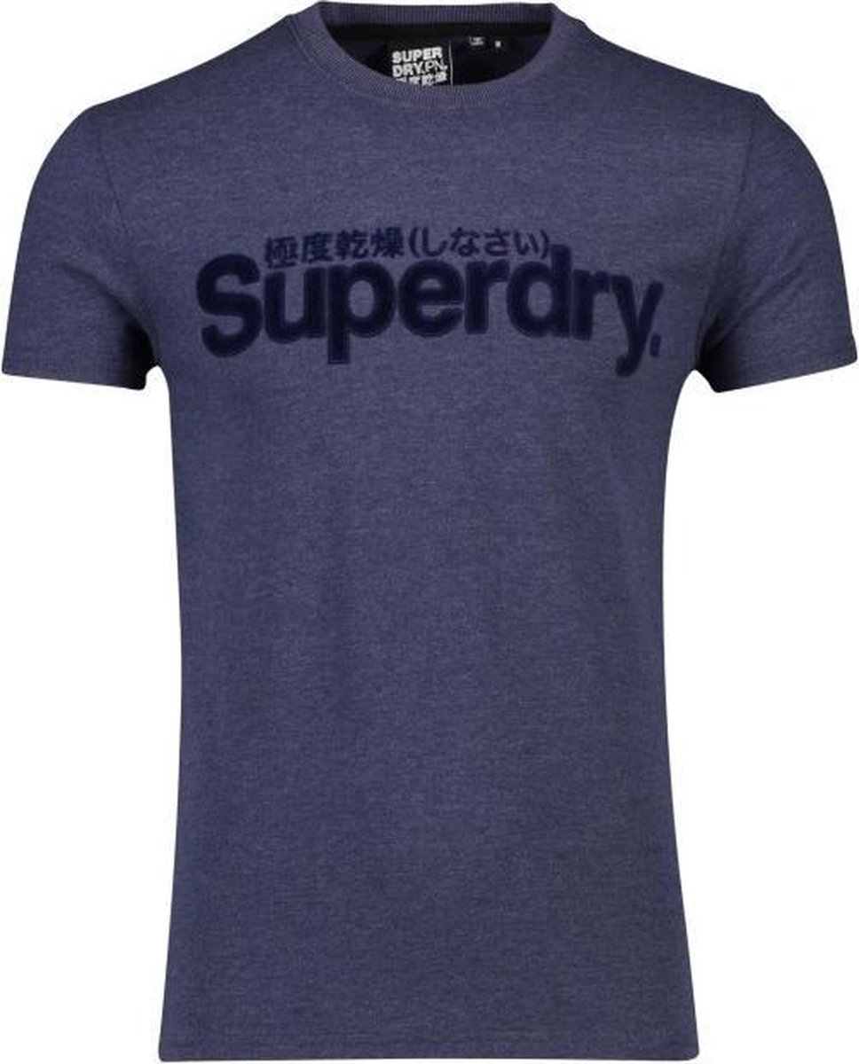 Superdry Heren CORE FAUX SUEDE TEE T shirt M