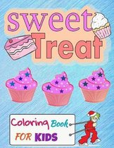 Sweet Treat Coloring Book For Kids: Cupcake Workbook for girls and boys with some drawing activities to complete, a cute gift idea for your son or dau