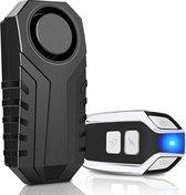 Anti-diefstal - Alarminstallatie draadloos - Alarm beveiliging - Fietsalarm - Huisalarm - Motor alarm - Auto alarm - Alarm met afstandsbediening - SOS geluid - 113 Decibel - Waterdicht