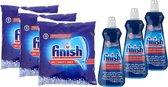 Finish zout vaatwaszout 3 kg + Finish glansspoelmiddel 3 stuks
