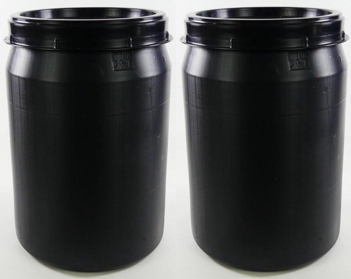 Voerton 40 liter donker grijs 2 stuks