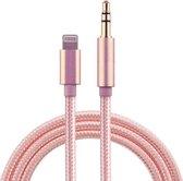 iPhone Lightning naar Headphone Jack Audio Aux Kabel - Iphone auto kabel - 3.5 mm - 1 Meter - Roze