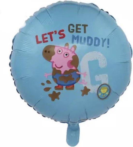 George-PeppaPig-Let's-Get-Muddy-18-inch-Folie-Ballon