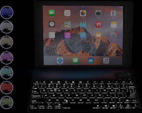 iPad Pro 10.5 Toetsenbord hoesje CaseBoutique Bluetooth Keyboard Case Rose Goud Aluminium