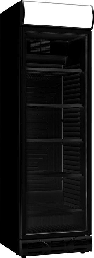 Horeca koelkast: Horeca Koelkast Glasdeur VOLLEDIG ZWART/All Black | 382 Liter, van het merk Combisteel