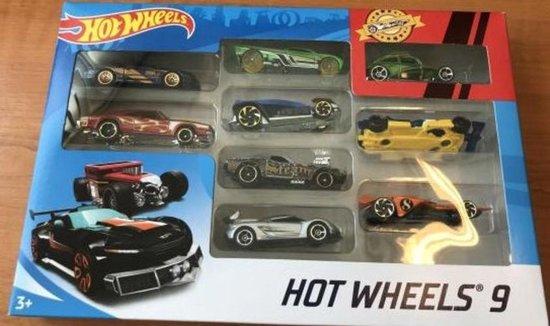 Afbeelding van Hot Wheels Set 9 stuks (3) - Modelauto - Schaalmodel - Model auto speelgoed