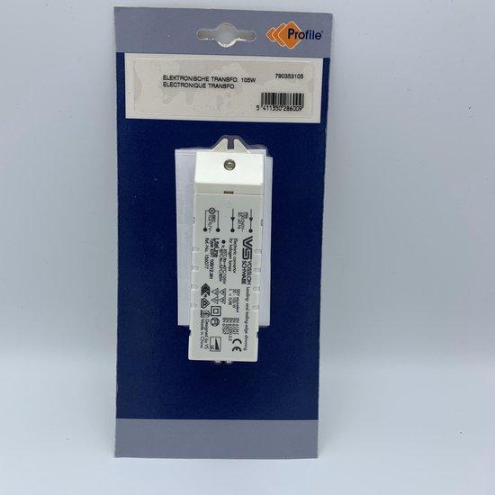 Halogeen trafo 20-105 watt (vossloh) geschikt voor LED driver