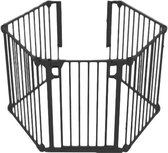 Noma 5 panelen Veiligheidshek - roomdivider - Tot 315 cm - zwart