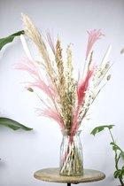 Droogbloemen   Boeket Roze   Dried flowers   Gedroogde bloemen