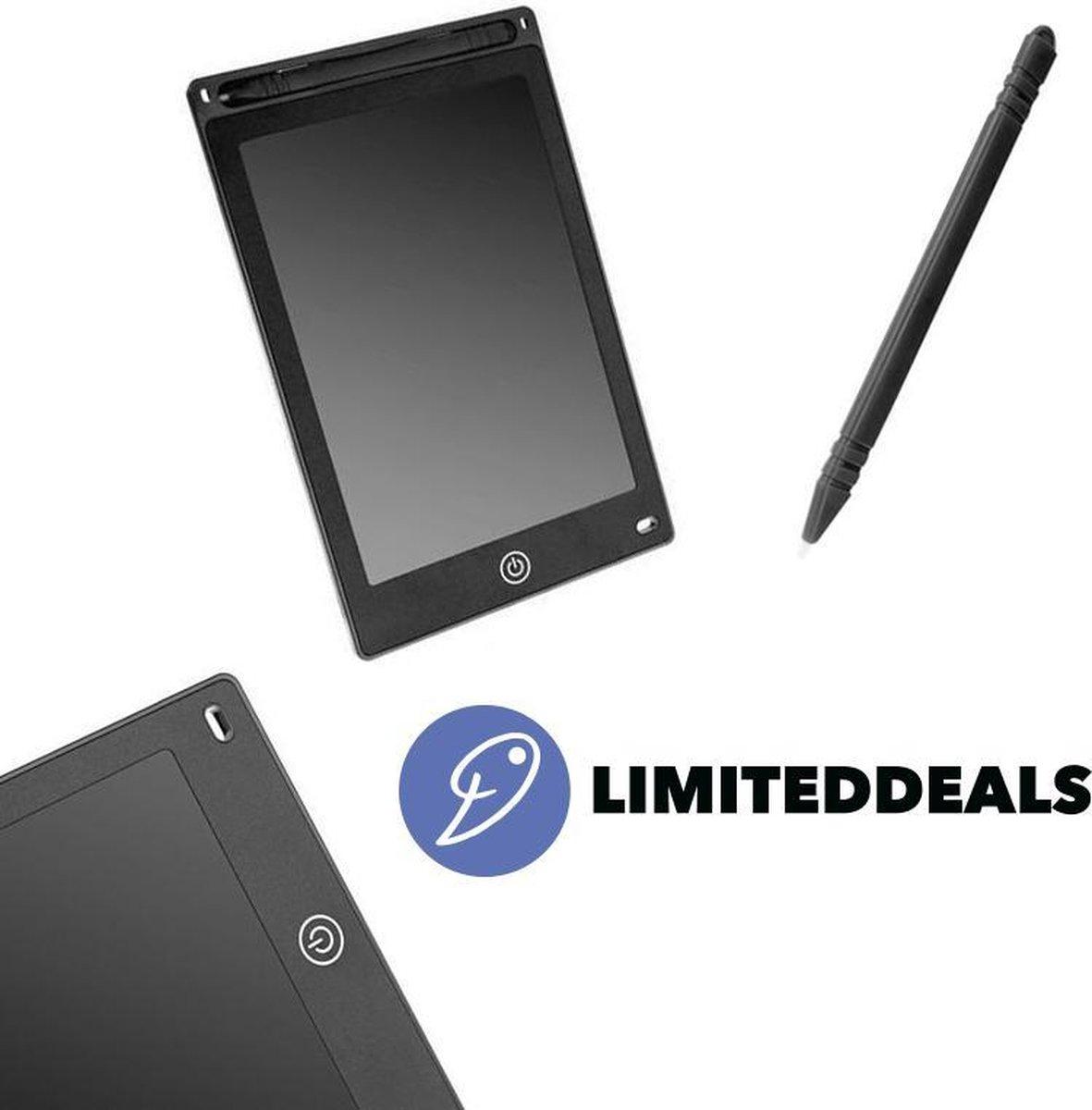 Kindertablet 8,5 inch - Tekentablet met pen - Zwart - Betaalbaar tekenen voor kinderen - LimitedDeals!