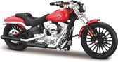Harley Davidson Breakout 2016 (Oranje) 1/18 Maisto - Modelmotor - Schaal model - Model motor - harley davidson schaalmodel