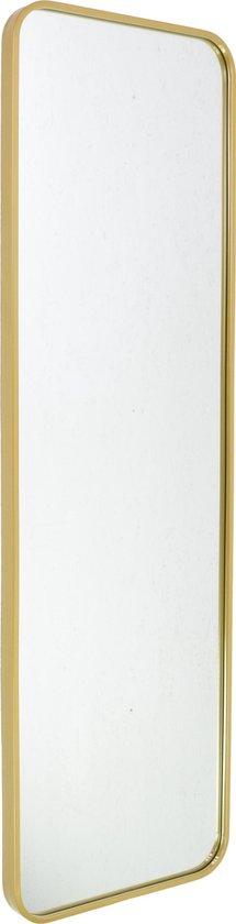 Fragix Boston passpiegel rechthoekig - Goud - Metaal - 130x40cm - Industrieel