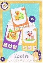 kwartet - kwartet voor kinderen - dieren - spelkaarten - kaarten - kaartspellen - kwartetten - spel - voor kinderen - vanaf 4 jaar