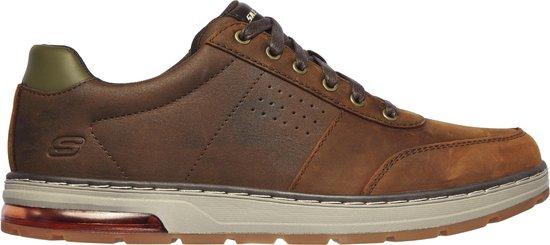 Skechers Evenston-Fanton Heren Sneakers - Dark Brown - Maat 43