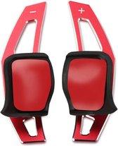 Aluminium DSG Flippers Schakel Paddles Stuurwiel Stuur Geschikt Voor Golf 5 6 Gti Gtd Tsi Fsi Tdi Extentions Rood