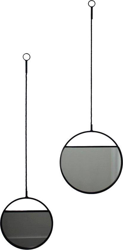 Housevitamin metalen spiegel - 2 stuks - hangspiegel / hangende wandspiegel