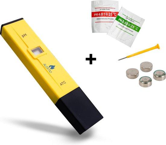 Digitale pH-meter met kalibratie, batterij en opbergbox - PH meter zwembad - Zuurtegraad meten - PH waarde meten - pH indicator