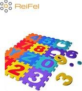 ABC - Speelmat -Alfabet puzzel- Letter puzzel -Speelkleed- Vloerkleed- Vloerpuzzel- EVA Foam - ABC speelmat- puzzelstukken 30 x 30 cm x 1 cm - zacht en makkelijk schoon te houden- alfabet inclusief cijfers 0 tot en met 9