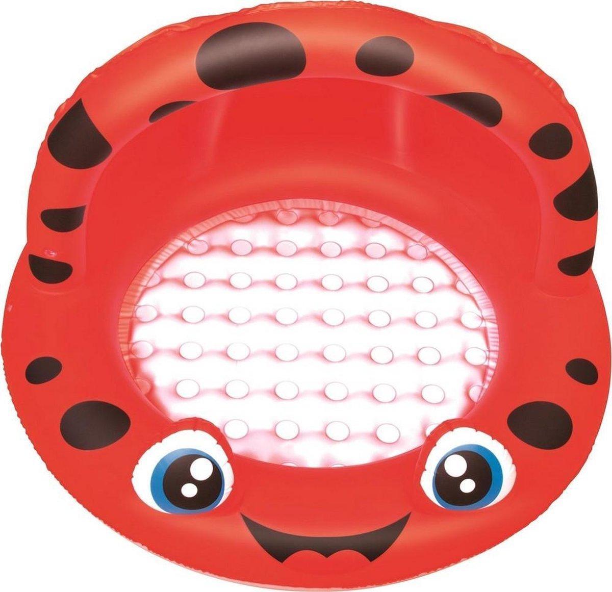 Bestway Babybad Rond met Schaduw Lieveheersbeestje 97 cm