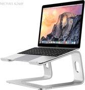 Michael & May® - Laptopstandaard – Laptopstand – Laptophouder – Laptop Steun – Tablet Houder – Tablet Standaard – Boekensteun – Boekenstandaard – Boekenhouder – Laptopverhoger – Macbook Standaard – iPad Standaard – Aluminium – Zilver