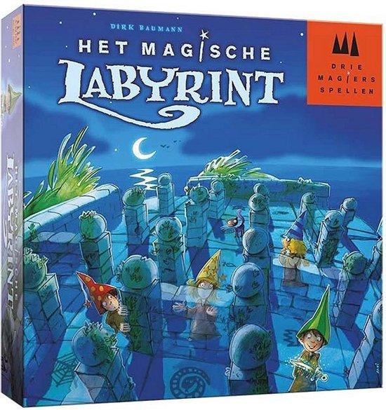 Drie Magiers Spellen – Het Magische Labyrint Bordspel – vanaf 6 jaar – Een van de beste spellen van 2010 – Dirk Baumann – voor 2 tot 4 spelers – 999-MGS01