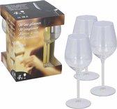 8x Witte of rode wijnglazen 38 cl/380 ml - Wittewijnglazen/rodewijnglazen - Wijn drinken - Wijnglazen van glas