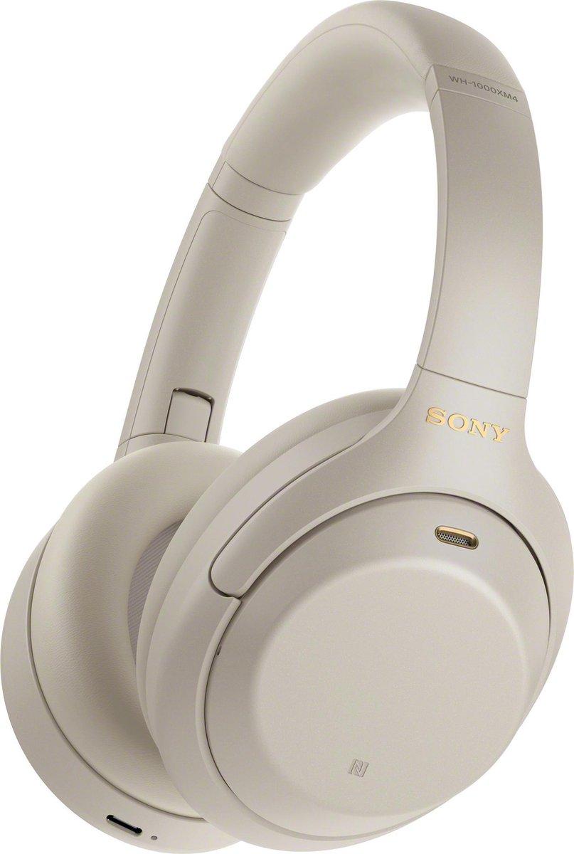 Sony WH-1000XM4 - Draadloze over-ear koptelefoon met Noise Cancelling - Zilver
