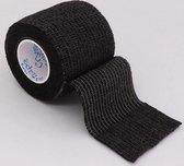 Sportbandage sportbanden brace | zelfklevend elastisch ondersteuning | Hansaplast | 4,5 meter zwart