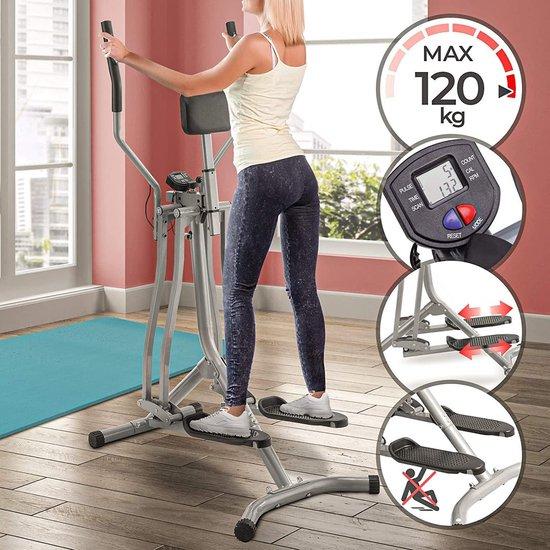 Crosstrainer / Hometrainer met LCD-Display - Zilver