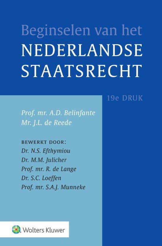 Boek cover Beginselen van het Nederlands staatsrecht van  (Hardcover)