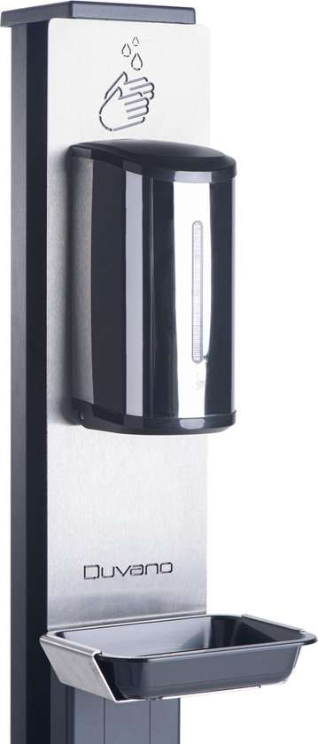 Professionele desinfectiezuil met wielen en automatische sensor bediening. 150cm