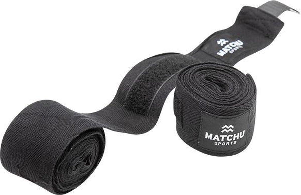 Matchu Sports - Boks bandages - Zwart - 2 stuks - 350cm - Heren/dames