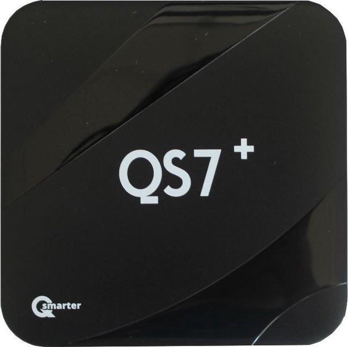 QSmarter QS7+ IPTV Box met Android   Dual-Band WiFi & 2GB Ram   My TV Box   4K 60 fps IPTV mediabox