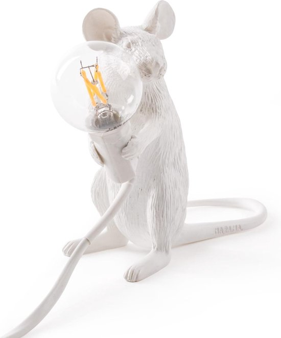 Seletti Tafellamp - Muis - Wit - LED