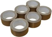 High Quality Verpakkingstape Havana bruin 6 rollen - 50 mm