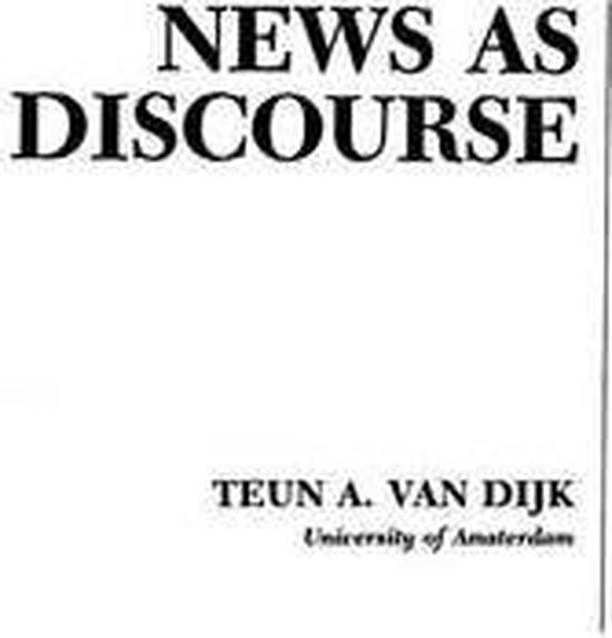 News As Discourse
