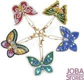"Diamond Painting ""JobaStores®"" Sleutelhanger Set Vlinders (5 stuks)"