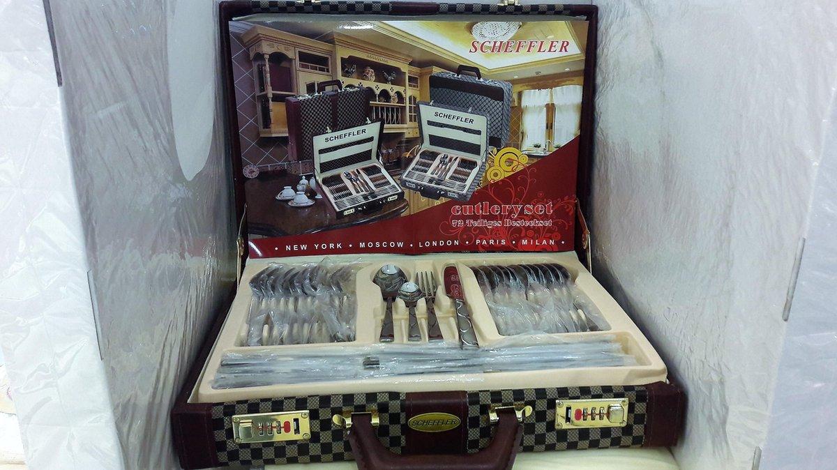 Scheffler* Bestekset 72-delig in koffer cutlery set - Scheffler