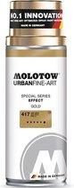Molotow Urban Fine Art Spray - Goud Chrome Effect - 400ml spuitbus