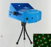 Mini Laser Stage Lighting Rood en Groen - Blauw