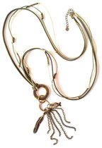 Jewellicious Designs Bronze & Beige Boho ketting voor Pink Ribbon