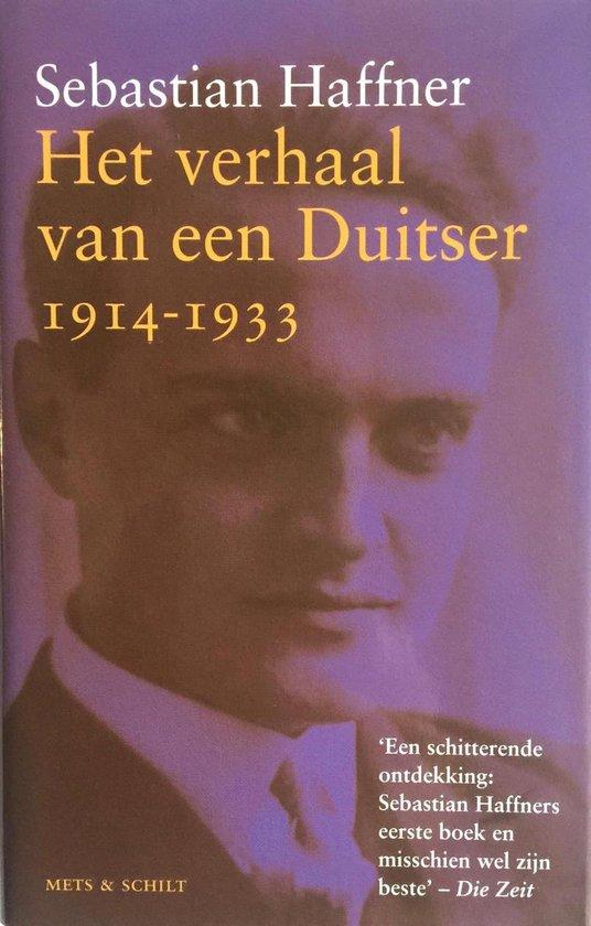 Boek cover Het verhaal van een Duitser 1914-1933 van Sebastian Haffner