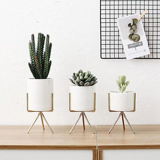 Bol Com 3 Stuks Luxe Plantenpotjes Standaard Goud Vaas Home Decor Decoratie