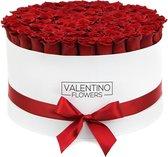 Large Witte Ronde Flowerbox Red Naomi