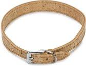 Beeztees Cork - Hondenhalsband - Leer - Naturel - 36-40 cm x 20 mm