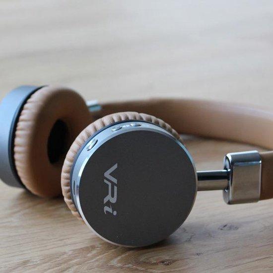 VR-i RHYTHM draadloze On-Ear koptelefoon - Butterum Brown met luxe opbergdoos