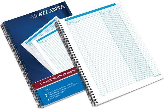 Afbeelding van Doorschrijfkasboek Atlanta A4 - Geen BTW kolommen - 50 x 2 vel