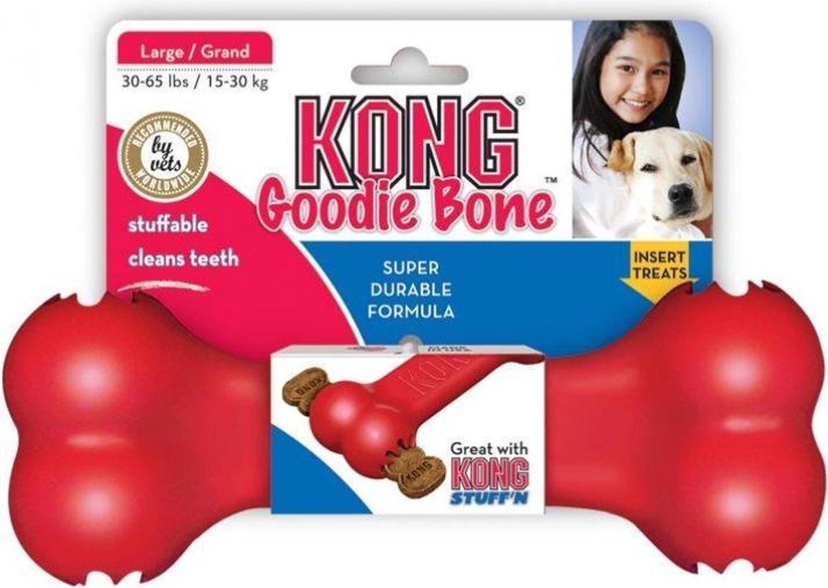 Kong Goodie Bone Medium 1 St - Kauwspeelgoed - 178 mm x 153 mm x 51 mm - Rood